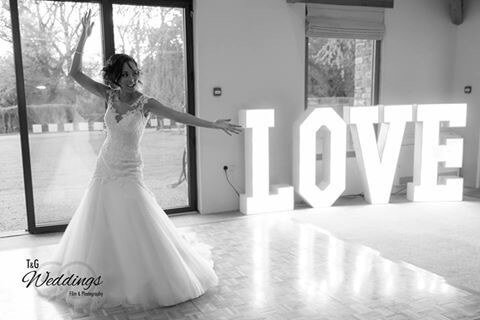 Wedding light up love letter white