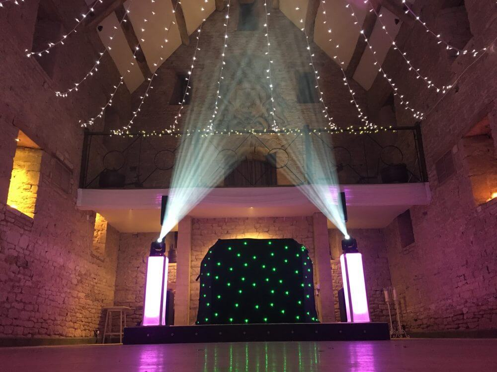 Wedding Venue Lights and DJ
