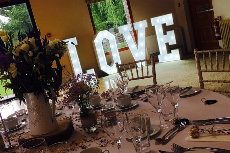 Wedding LOVE Letter Hire