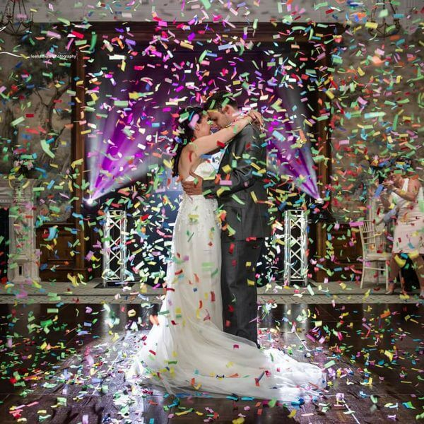 Wedding confetti cannon hire